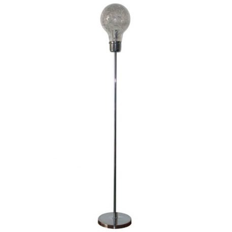 Bulb Lampa podłogowa – Styl nowoczesny – kolor srebrny, transparentny