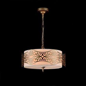 Burgeon Lampa wisząca – klasyczny – kolor beżowy, brązowy, złoty