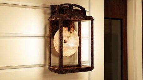 Byron  Lampa zewnętrzna – szklane – kolor brązowy, transparentny