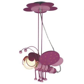 Bzyk Lampa wisząca – Styl nowoczesny – kolor różowy