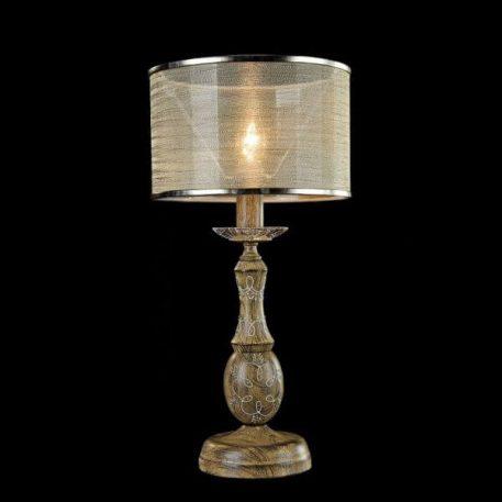Cable Lampa klasyczna – Z abażurem – kolor biały, brązowy