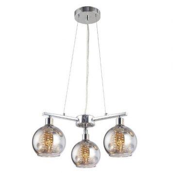 Caliope  Lampa wisząca – szklane – kolor srebrny, transparentny