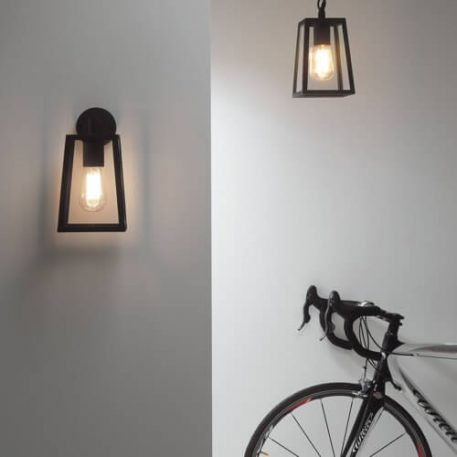 Calvi Lampa industrialna – industrialny – kolor transparentny, Czarny