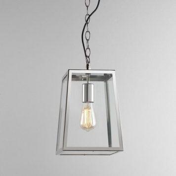 Calvi Lampa zewnętrzna – industrialny – kolor srebrny, transparentny