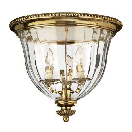 Cambridge 1 Lampa sufitowa – Plafony – kolor mosiądz, transparentny, złoty