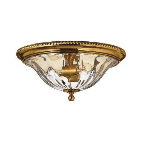 Cambridge 1 Plafon – szklane – kolor mosiądz, transparentny, złoty