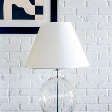 Capri Lampa nowoczesna – Styl modern classic – kolor biały, transparentny