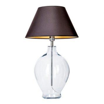 Capri  Lampa stołowa – Styl modern classic – kolor transparentny, złoty, Czarny