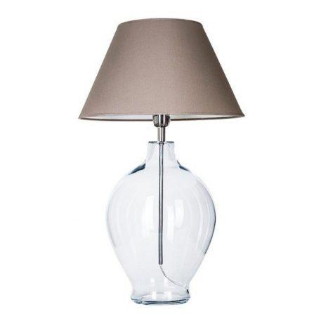 Capri  Lampa stołowa – Z abażurem – kolor beżowy, transparentny, Szary