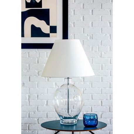 Capri  Lampa stołowa – Z abażurem – kolor biały, transparentny