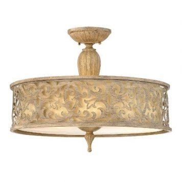 Carabel Lampa sufitowa – Z abażurem – kolor beżowy