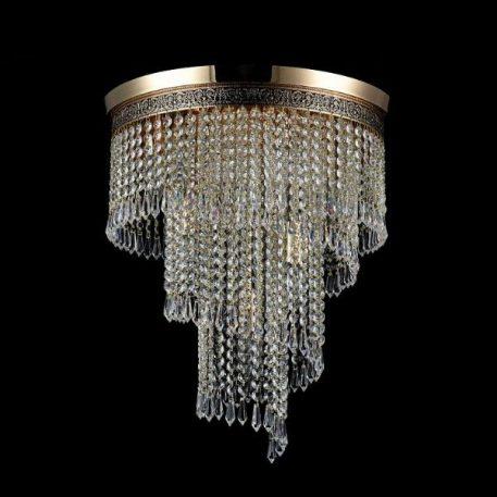 Cascade  Żyrandol – Styl glamour – kolor transparentny, złoty