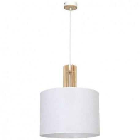 Castro  Lampa wisząca – Drewniane – kolor biały