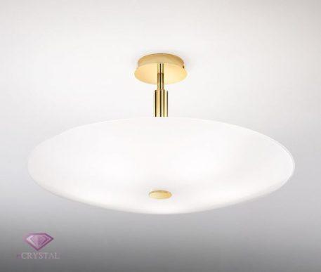 Centro Lampa sufitowa – klasyczny – kolor biały, złoty