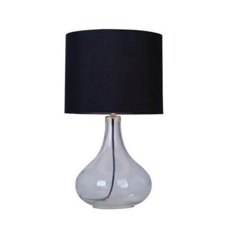 Ceri Lampa nowoczesna – szklane – kolor transparentny, Czarny