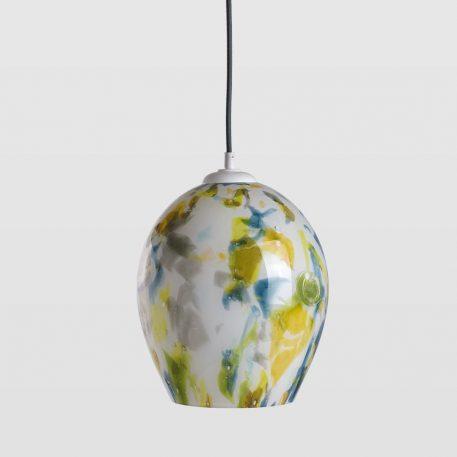 Cętki Lampa wisząca – Styl nowoczesny – kolor biały, żółty, Niebieski, Zielony