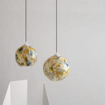 Cętki Lampa wisząca – Styl skandynawski – kolor żółty, Niebieski, Zielony