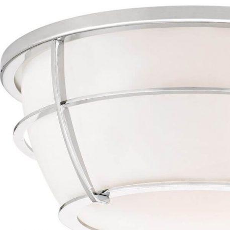 Chance Plafon – szklane – kolor biały, srebrny
