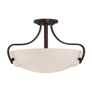 Chantilly Lampa sufitowa – szklane – kolor biały, brązowy
