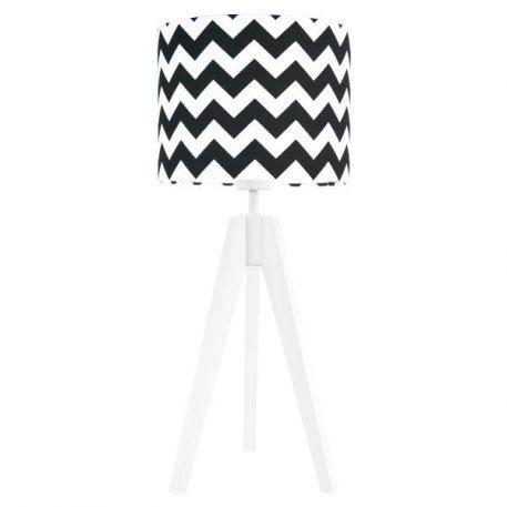 Chevron Lampa podłogowa – Styl skandynawski – kolor biały, Czarny