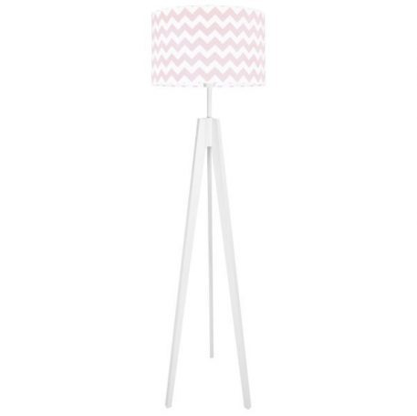 Chevron  Lampa podłogowa – Styl skandynawski – kolor biały, różowy