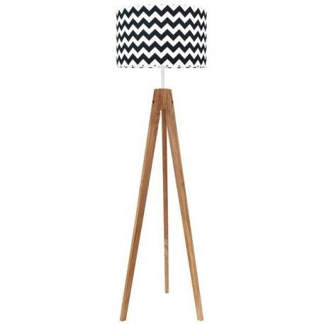 Chevron  Lampa podłogowa – trójnogi – kolor biały, Czarny
