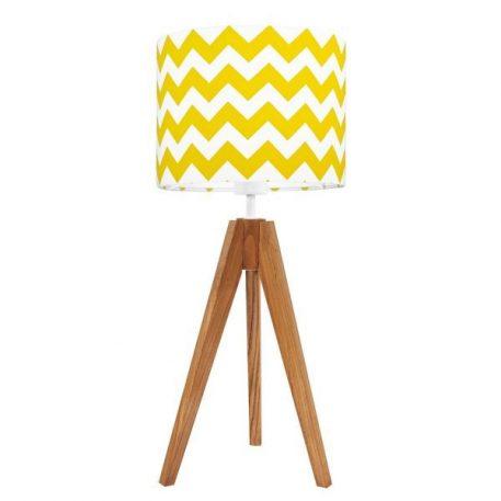 Chevron  Lampa stołowa – Z abażurem – kolor brązowy, żółty