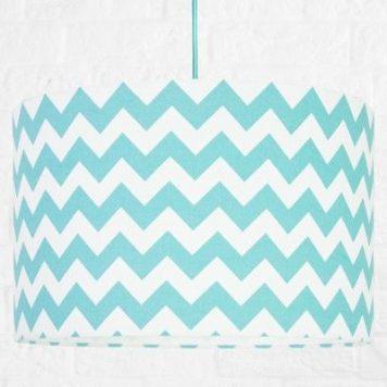 Chevron  Lampa wisząca – Styl nowoczesny – kolor biały, Niebieski