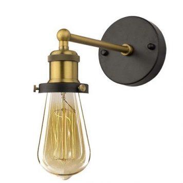 Chic  Lampa industrialna – industrialny – kolor mosiądz, złoty, Czarny
