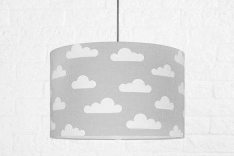Chmurki  Lampa wisząca – Z abażurem – kolor Szary