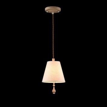 Cipresso Lampa wisząca – Z abażurem – kolor beżowy, brązowy
