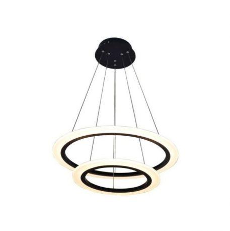 Circle Lampa wisząca – Lampy i oświetlenie LED – kolor Czarny