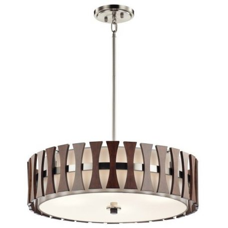 Cirus Lampa wisząca – Z abażurem – kolor beżowy, brązowy