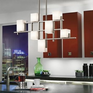 City Lights Żyrandol – Styl nowoczesny – kolor biały, srebrny
