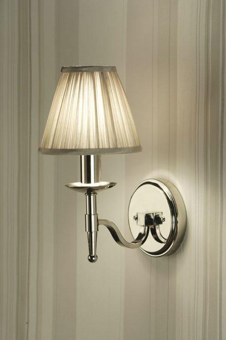 Clamart Kinkiet – klasyczny – kolor srebrny, Czarny