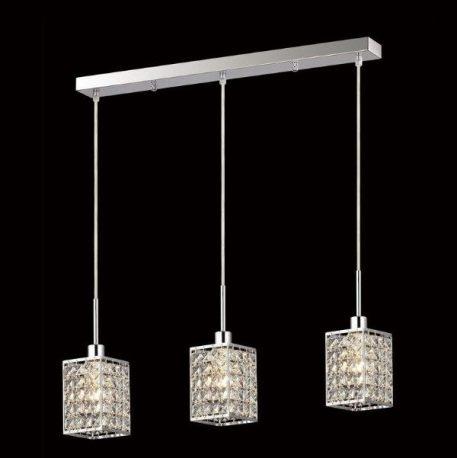Claris  Lampa wisząca – Styl glamour – kolor srebrny, transparentny