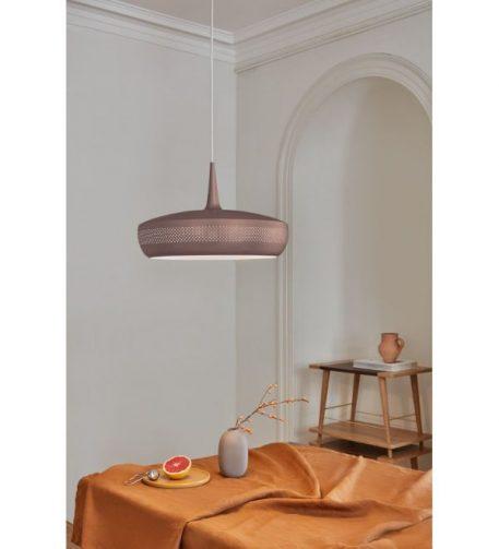 Clava Dine Umbra Lampa wisząca – Styl nowoczesny – kolor brązowy, Czerwony
