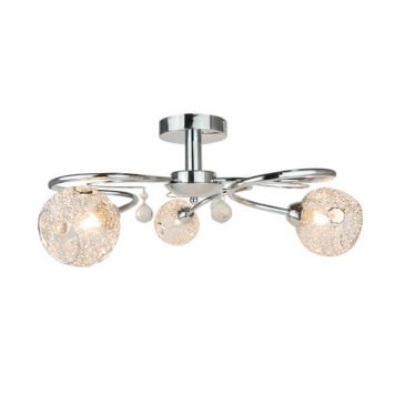 Cloe Lampa sufitowa – Styl glamour – kolor srebrny