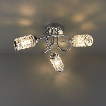 Colby  Lampa sufitowa – kryształowe – kolor srebrny