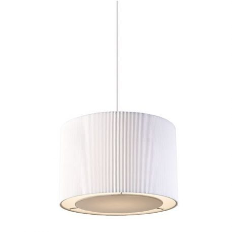 Colette  Lampa wisząca – Z abażurem – kolor biały