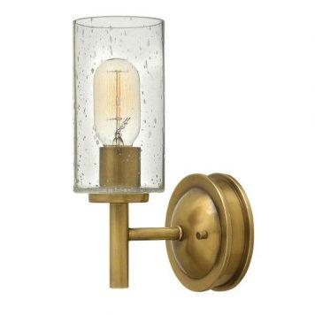 Collier Lampa klasyczna – szklane – kolor mosiądz, transparentny, złoty
