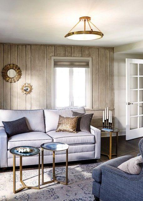 Collier  Lampa sufitowa – szklane – kolor biały, mosiądz, złoty
