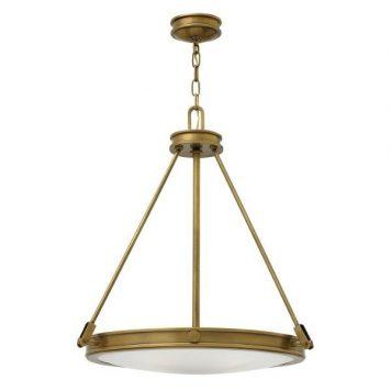 Collier  Lampa wisząca – klasyczny – kolor biały, mosiądz, złoty