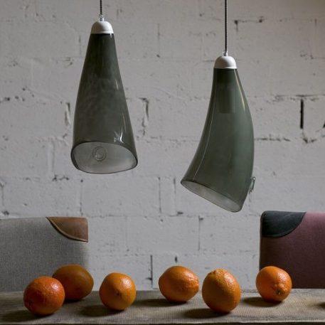 Color  Lampa wisząca – szklane – kolor Szary