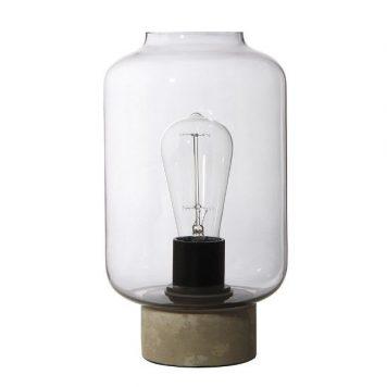 Column  Lampa industrialna – szklane – kolor transparentny, Szary