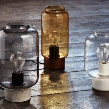 Column  Lampa stołowa – szklane – kolor żółty