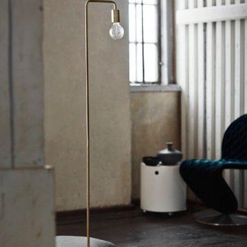 Cool  Lampa podłogowa – industrialny – kolor mosiądz, złoty