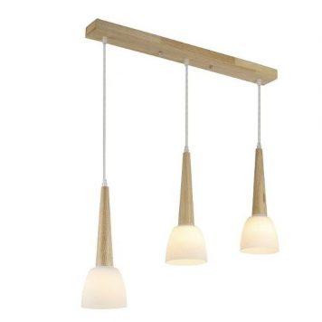 Coppo Lampa wisząca – Styl skandynawski – kolor biały, brązowy