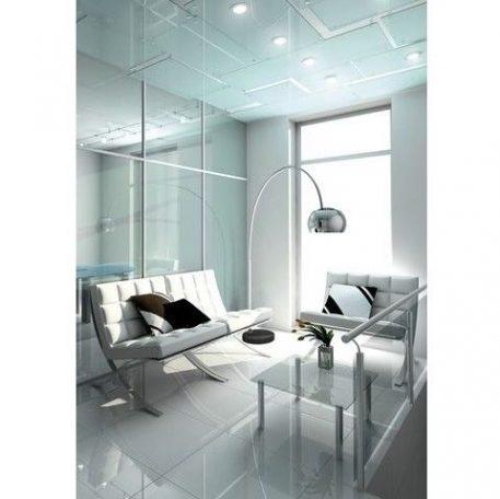Cosmo  Lampa podłogowa – kolor połysk, srebrny
