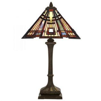 Craftsman Lampa klasyczna – Witrażowe – kolor brązowy, pomarańczowy, Czerwony